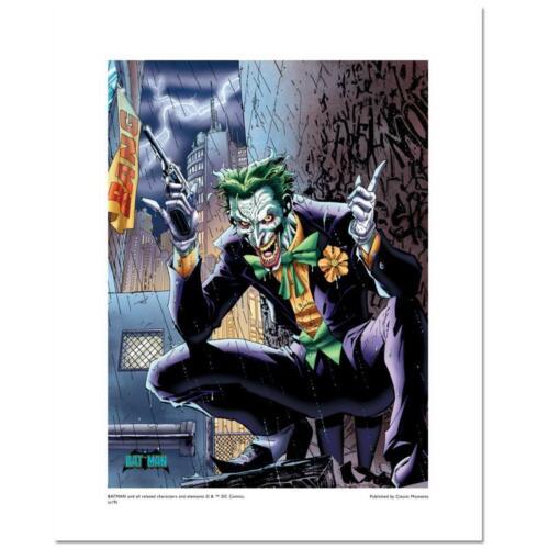 """joker"" Dc Comics Licensed Limited Edition Jim Lee Art With Coa"