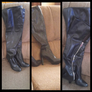 Over the knee nine west boots