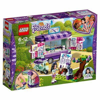 LEGO Friends 41332 - Emmas rollender Kunstkiosk, Cooles Kinderspielzeug (Cooles Lego Spielzeug)