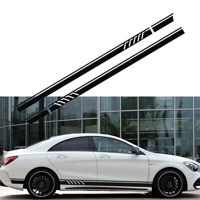 2pcs Auto Car Racing Long Stripe Sticker Graphics Side Body Vinyl Decal Sticker