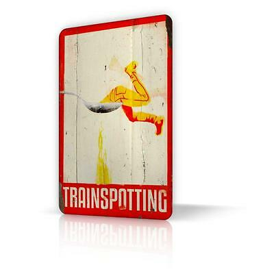 TIN SIGN TRAINSPOTTING Movie Danny Boyle Metal Decor Home Art Classic Movie Wall