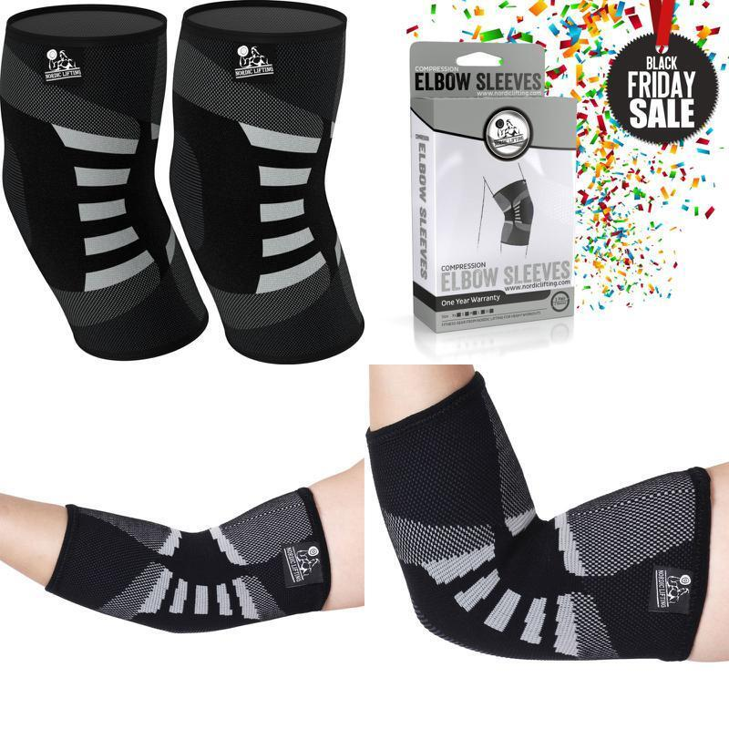 Elbow Sleeves Support & Compression for Weightlifting Powerl