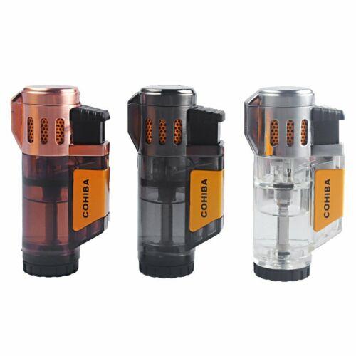 Torch Lighter Triple Jet Flame Refillable Butane Lighter Gas