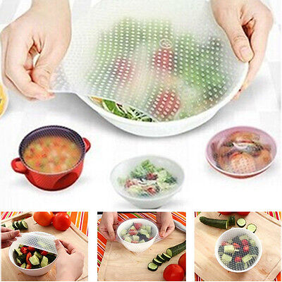 HOT Sale 4Pieces Silicone Wrap Seal Cover ...
