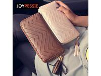JOYPESSIE New Fashion leather purse with tassel