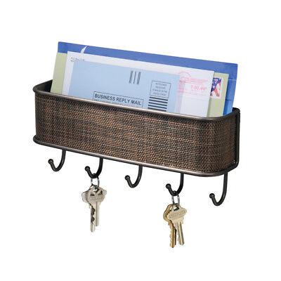 NEW Wall Mount Mail Letter Holder Key Rack Hook Organizer Storage Hanger
