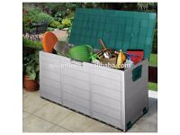 new Vivo outdoor storage boxes. Model N-KTL-4022. Size approx 115cm x 54cm x 9cm,