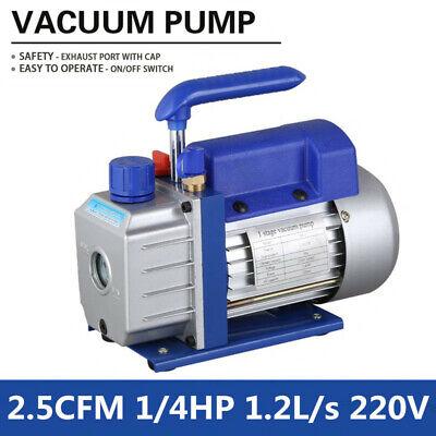 2.5cfm Mini Rotary Vane Vacuum Pump 1 Stage 220v 14hp 5pa For Air Refrigerator