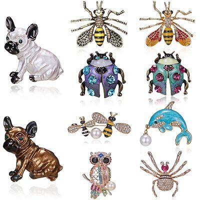 Pug Dog Costume (Charm Pug Dog Animal Crystal Rhinestone Women Costume Brooch Pin Jewelry)