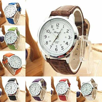 $2.15 - Elegant Analog Luxury Sports Leather Strap Quartz Mens Wrist Watch Cheap