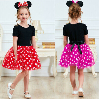 Clothing For Girl (Fancy Minnie Mouse Dress Up for Girls Clothing For Kids Birthday Party)