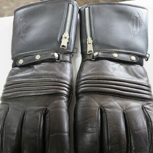 Mens Harley Davidson Leather Cold Weather Motorcycle Gloves