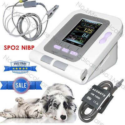 Vet Veterinary Lcd Digital Blood Pressure Heart Spo2 Monitor Nibp Contec08a