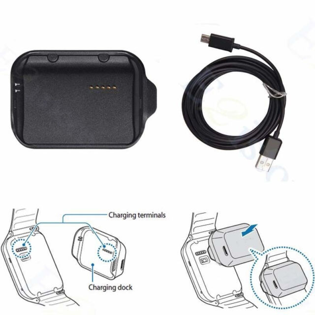 New Charging Dock Cradle Charger Adapter For Samsung Galaxy Gear 2 SM-R380 R380