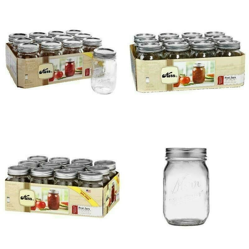 Kerr 00503 Pint Regular Mouth Canning Jars
