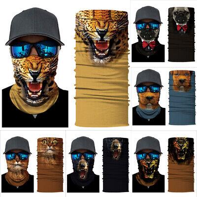 3D Animal Joker Skull Motorcycle Cycling Neck Scarf Half Face Mask Bandana Ski ()