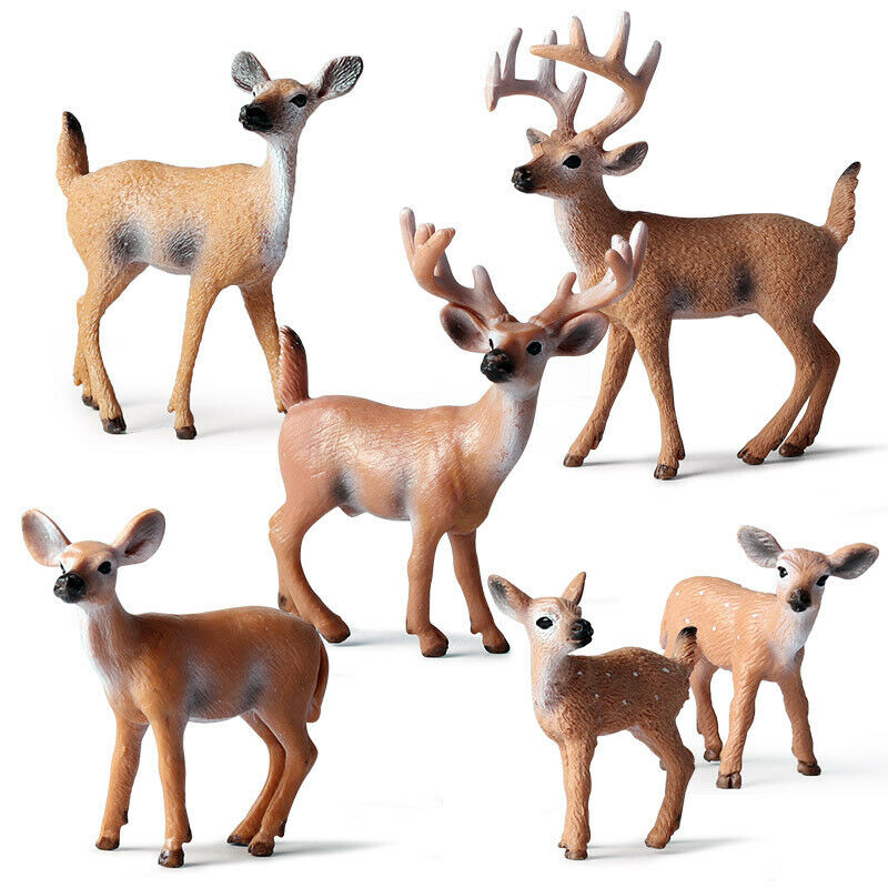 Artificial Deer Figurines Christmas Xmas Reindeer Decor Home Decoration Ornament