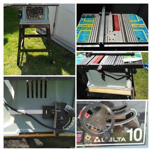 """10""""Delta table saw,excellent condition$100 obo for everything"""
