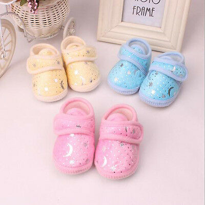 Newborn Infant Baby Toddler Soft bottom Shoes 3 Colors Girls Boys Best Selling