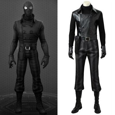 Spider-man Noir Cosplay Costume Black Jacket Superhero Halloween Party Outfit - Halloween Costumes Black Man