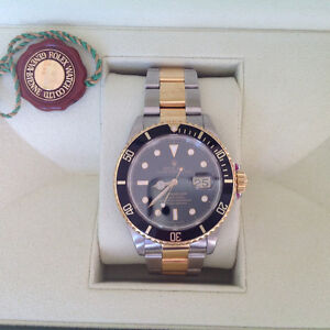 For sale or trade Rolex Submariner TT 16613 l serial 1988