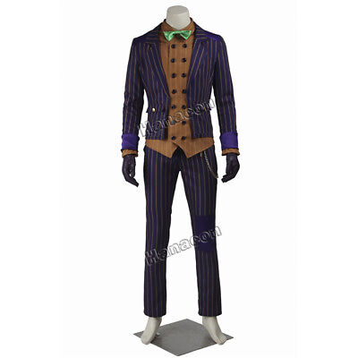 New Batman Arkham Asylum Dark Knight Joker Clown Costumes Cosplay Tailcoat - Dark Knight Joker Costumes