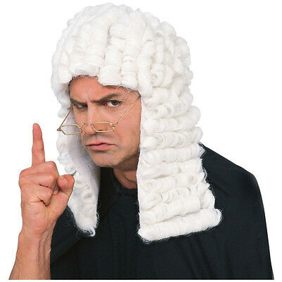 Judge Wig White British Judge Wig Barrister Costume