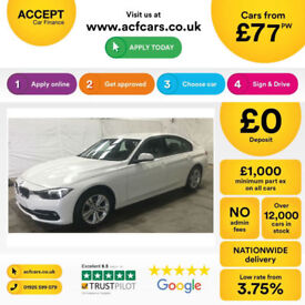 White BMW 318 1.5 Petrol Auto 2016 i Sport FROM £77 PER WEEK!