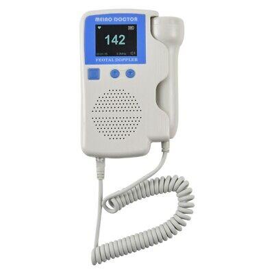 Usa Blue Digital Lcd Fetal Prenatal Baby Heart Rate Baby Monitor 3mhz Probe