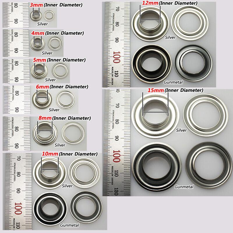 Metal Eyelets Grommet Scrapbook Stamping Leather Craft Silver Gunmetal