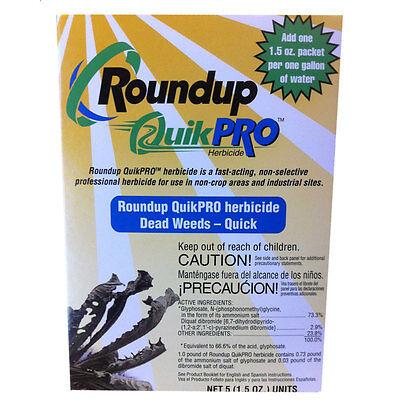 1 Weed Killer - Roundup QuikPro Weed Killer HERBICIDE 73.3% QuickPro 1, 5, 10, 20, 30 packs
