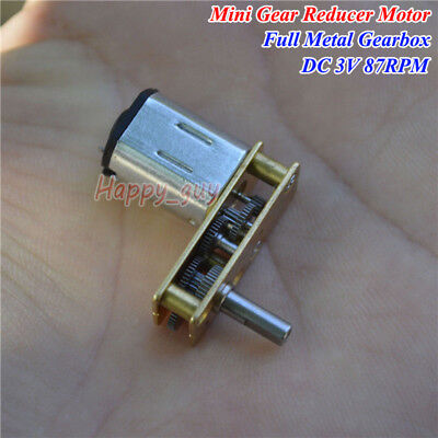 Mini 7-type N20 Full Metal Micro Gear Motor Dc 3v 87rpm Slow Speed Diy Robot Car