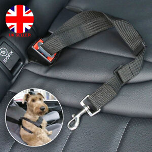 Pet Dog Puppy Car Safety Seat Belt Harness Adjustable Restraint Metal Clip L4U