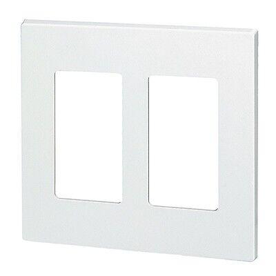 (10) 2 Gang Screwless Wall plate Decorator GFCI  White Decorative Wallplate Snap