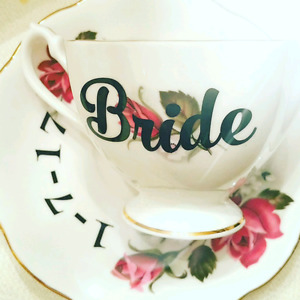 Personalized Vintage Teacups/ Wedding or Shower gifts/ Funny