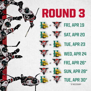 2 Mooseheads Tickets WED APRIL 24th (GAME 4)