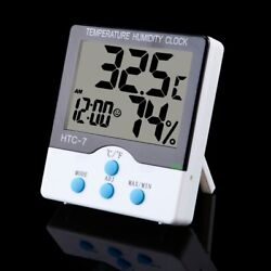 Wireless Digital Temperature Indoor and Humidity Clock Thermometer Meter Weather