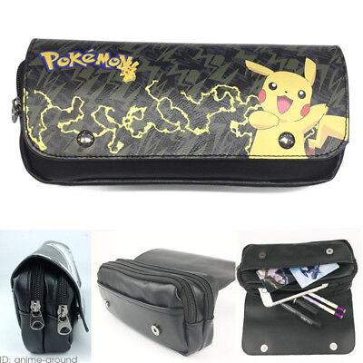 Pen Bag Pikachu Pencil Case Pokemon Go Cosmetic Make Up Bag Storage Pouch - Pikachu Makeup