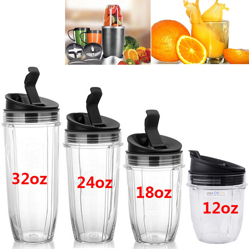 12/18/24/32oz Juicer Cup Seal Lids For Nutri Ninja Blender A
