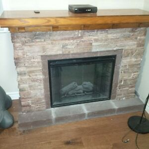 Large Electric Fireplace with Full Mantle