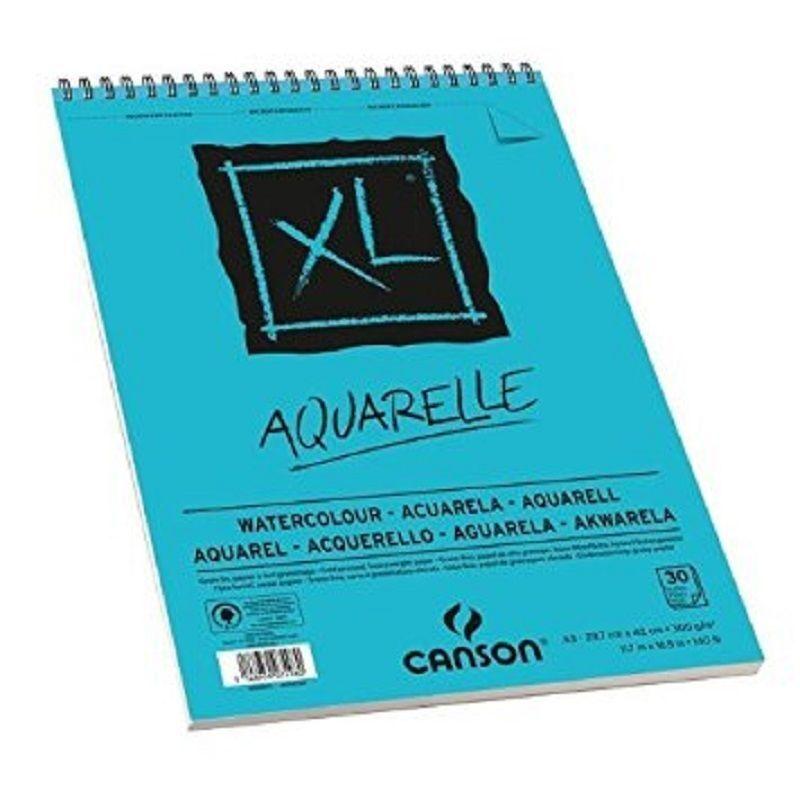 Carta per acquerello - Album 30 fogli Canson XL Aquarelle