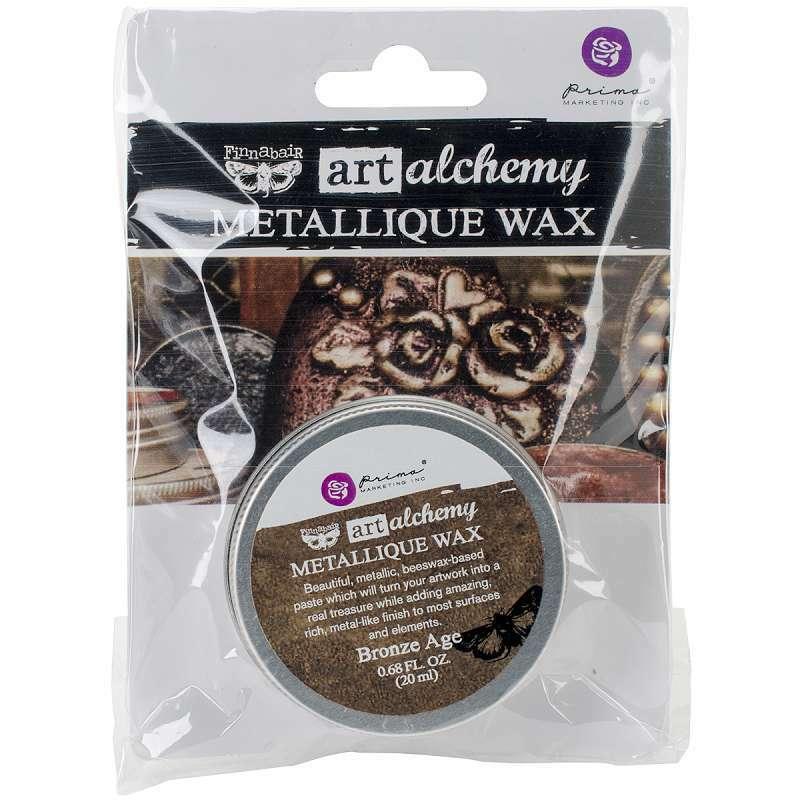 Finnabair Art Alchemy Metallique Wax .68 Fluid Ounce Bronze Age 655350964023