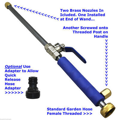 Best Home Car High Pressure Power Washer Spray Nozzle Water Hose Wand