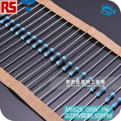 10pcs New Original Licensed Philips Vishay Bc Mrs25 1 Metal Film Resistors