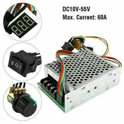 10-55v 60a 5000w Reversible Dc Motor Speed Controller Pwm Control Soft Start Usa