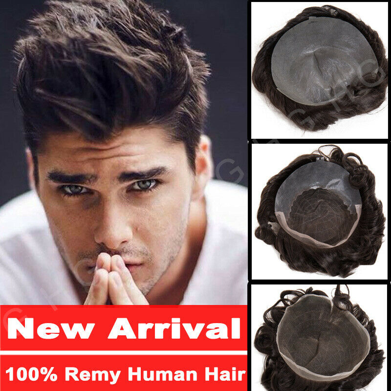 US Stock 7A Hair Toupee For Men 8x10 100% Remy Human Hair To