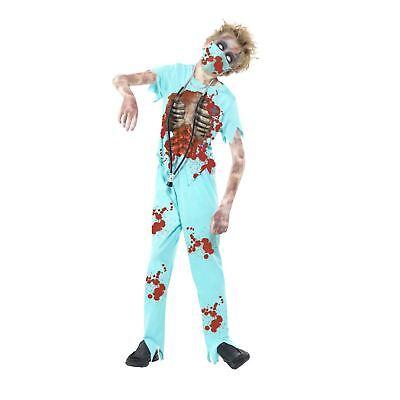 Boys Zombie Hospital Surgeon Costume Medic Kids Halloween Walking Creepy Dead   - Dead Surgeon Halloween Costume