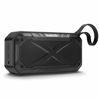 Inateck Portable Waterproof Bluetooth Stereo Loud Speaker AUX Outdoor Shower