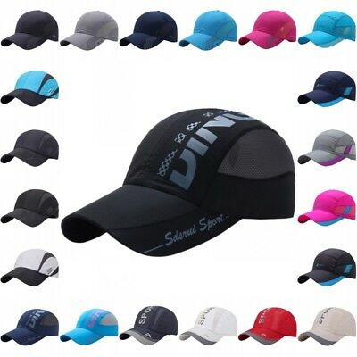 Men's Outdoor Quick-Dry Visor Caps Sport Cool Summer Running Baseball Mesh Hats](Cool Baseball Hats)