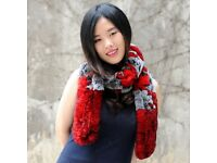 DAYMISFURRY--Rex Rabbit Fur Knitted Women Scarf